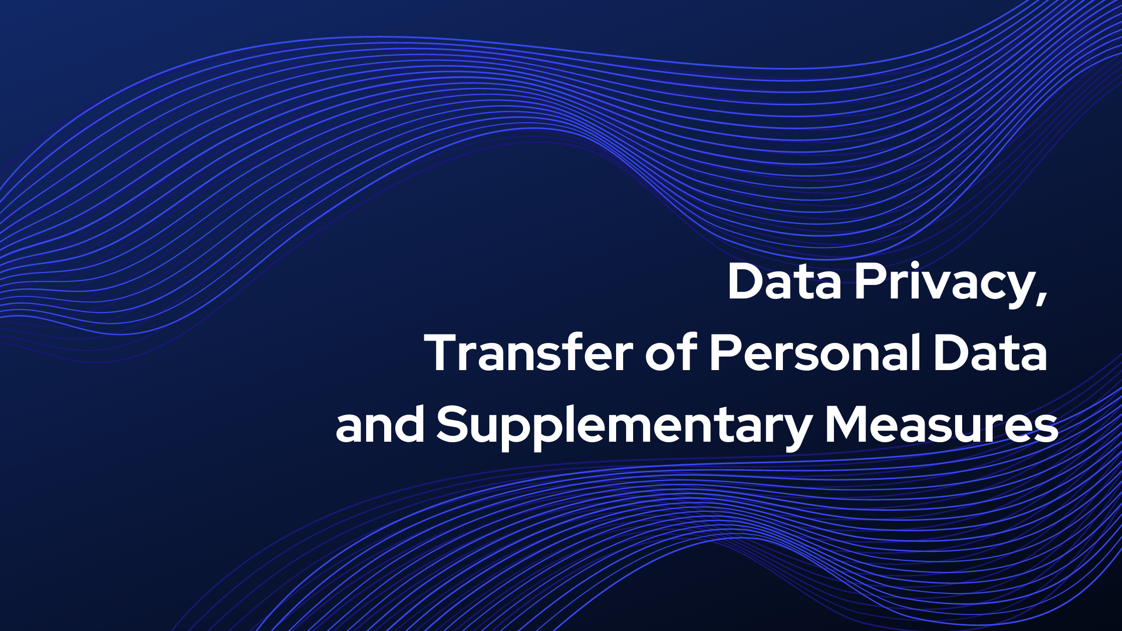 Transfer of personal data